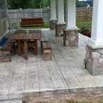 Concrete Wood Plank Porch Patio