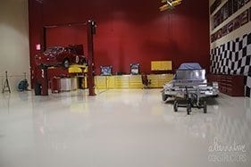 Pure White Epoxy Garage Floor