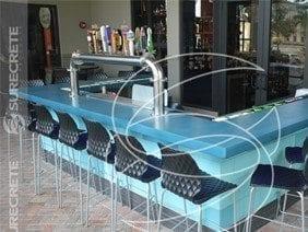 Bar Smooth Concrete Counter Top