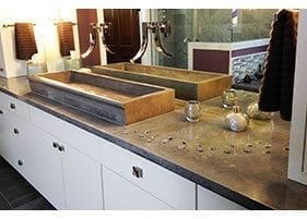 Surface Mount Concrete Bathroom Sink