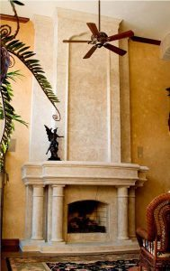 cathedral fireplace surround architectural accents