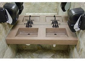 Integrated Concrete Bathroom Sinks
