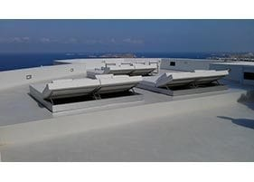 small commercial roof top patio modern design