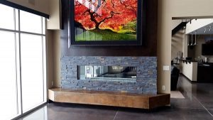 concrete casted stained hearth