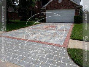 concrete stencil brick pattern overlay