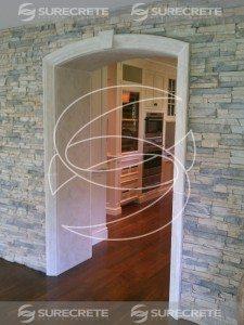 framed entry way concrete door insert
