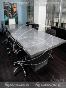 large executive concrete conference room table