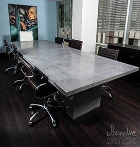 small large executive concrete conference room table