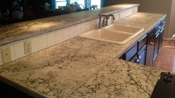pressed look concrete countertop top bar