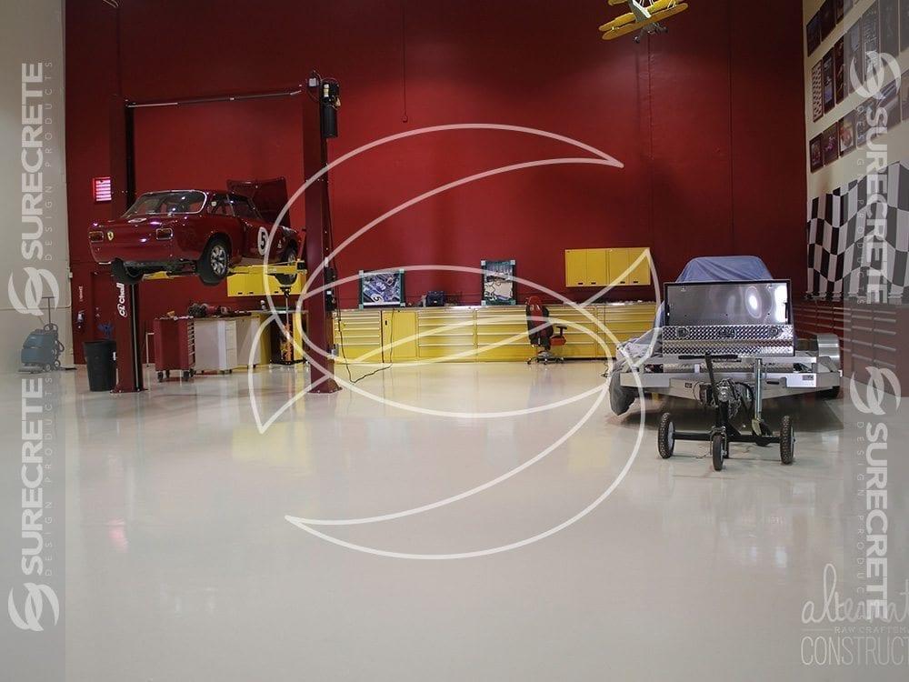 Pure White Epoxy Garage Floor
