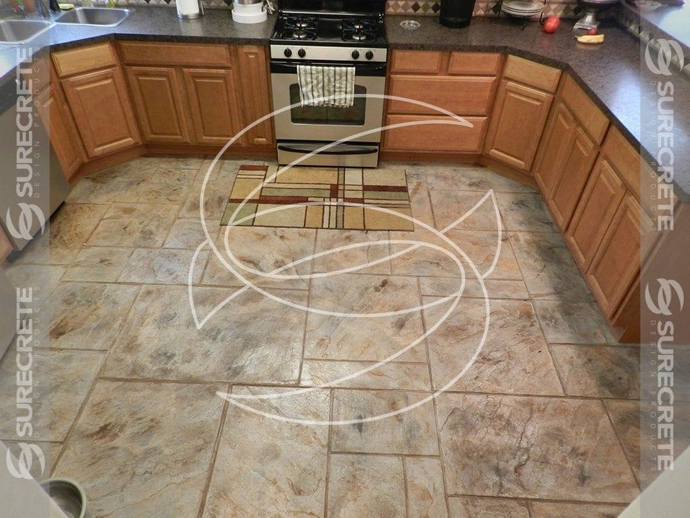 Stamped Concrete Kitchens : Kitchen concrete stamped floor