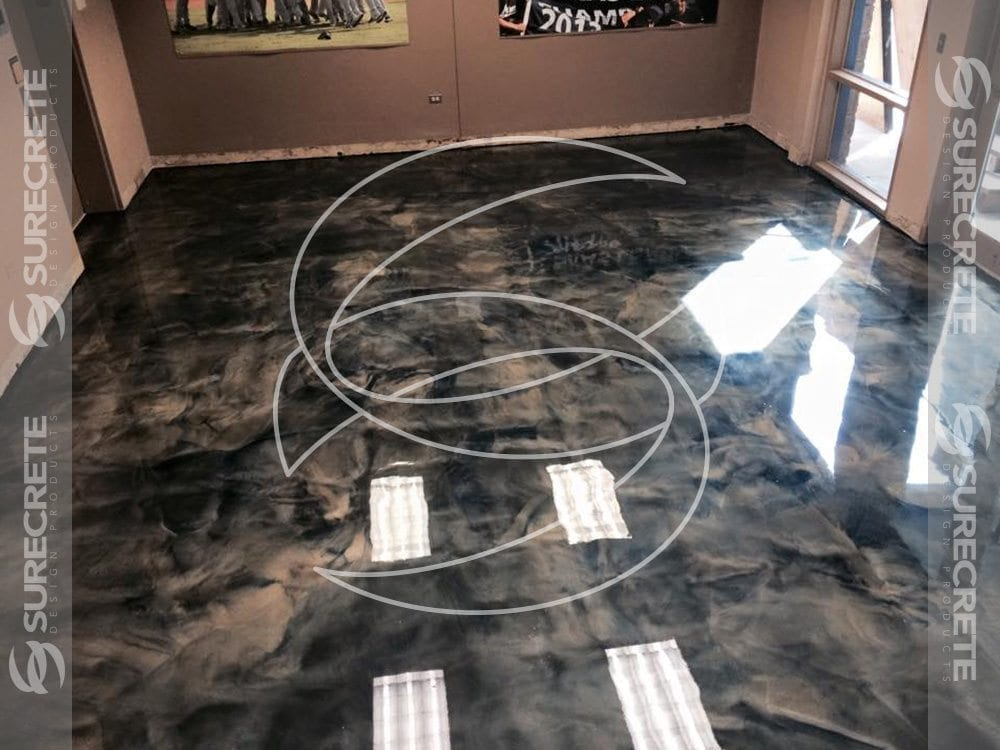 Epoxy Metal Looking Floor
