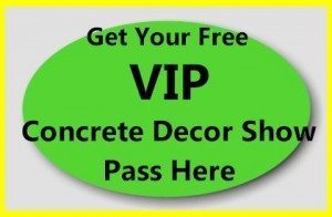 Concrete Decor Show Pass