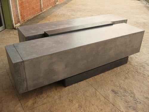 Stylish Concrete Bench Using Gfrc Mixs