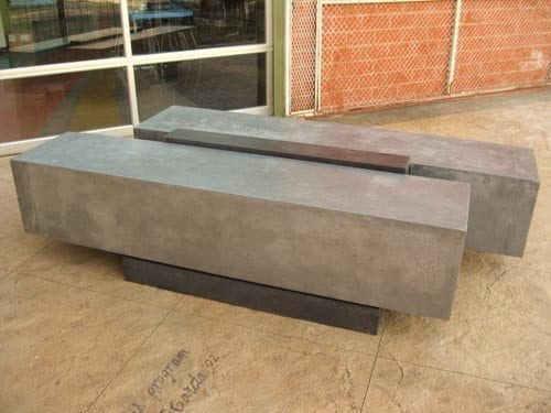 Stylish Concrete Bench Using Gfrc Mixs
