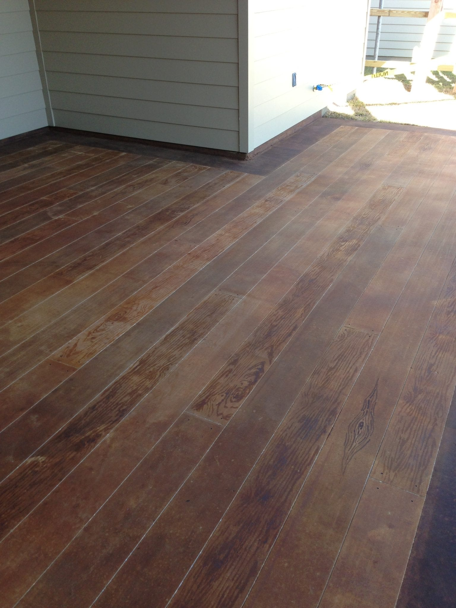 Concrete Wood Floor Wood Planks For Outdoor Concrete Patio Surecrete Products