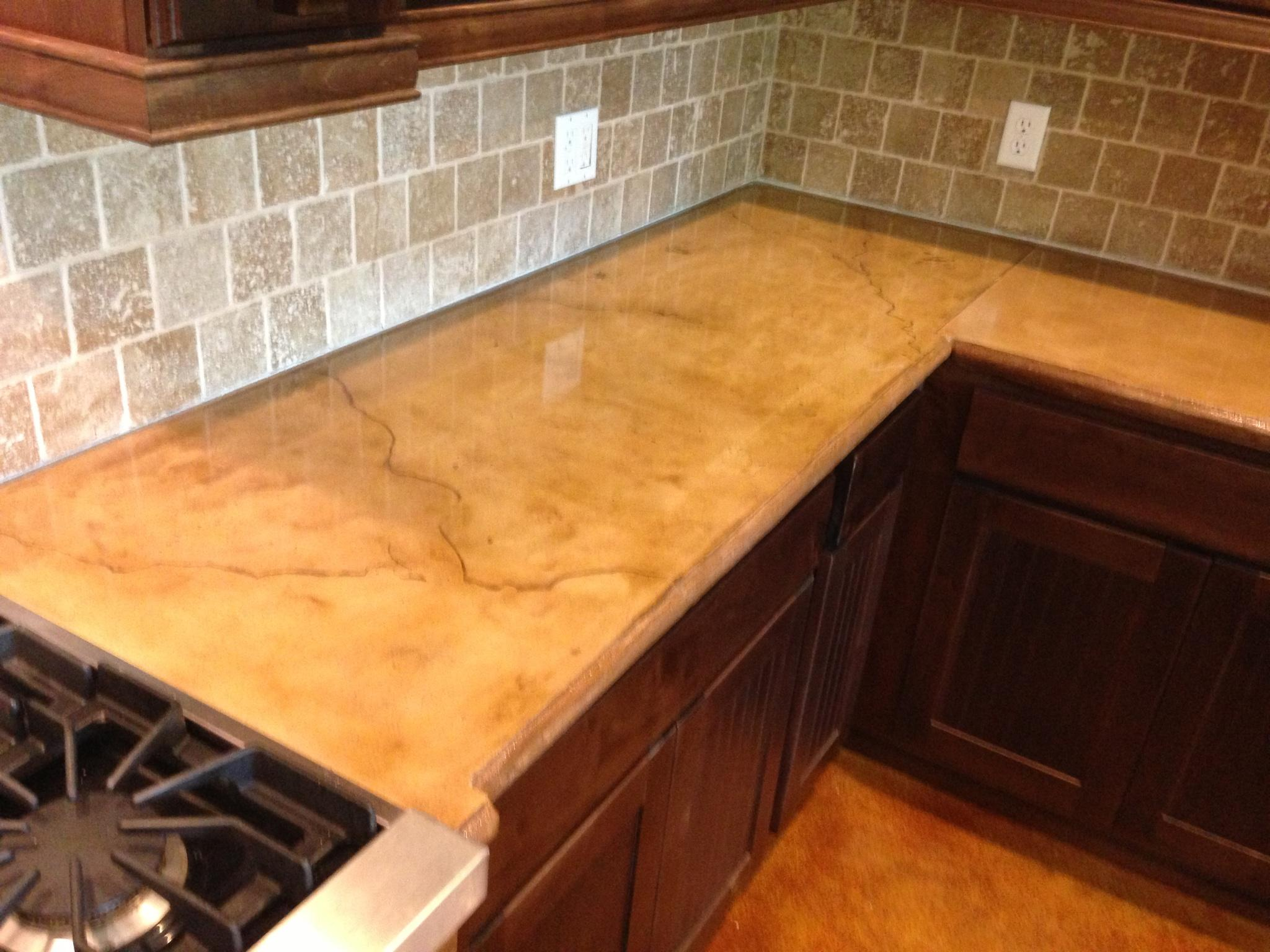 Concrete Installer Discovers Countertops