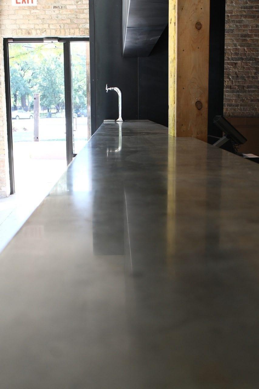 Concrete Gray Restaurant Bar Top