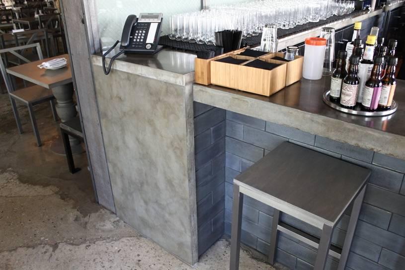 Concrete Tables Concrete Gray Restaurant Bar Top