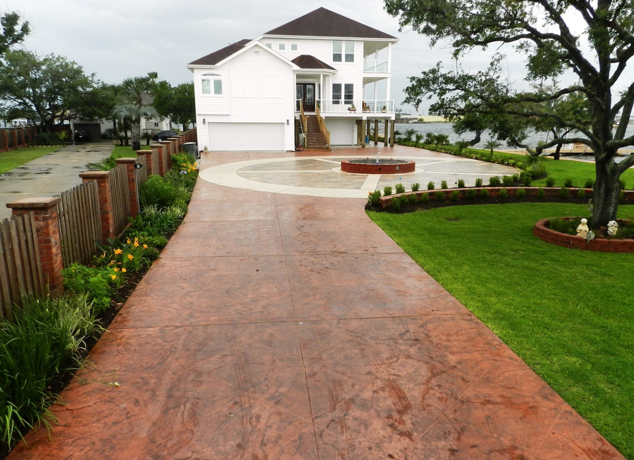 Galveston Stamped Concrete Driveway - Surecrete Products