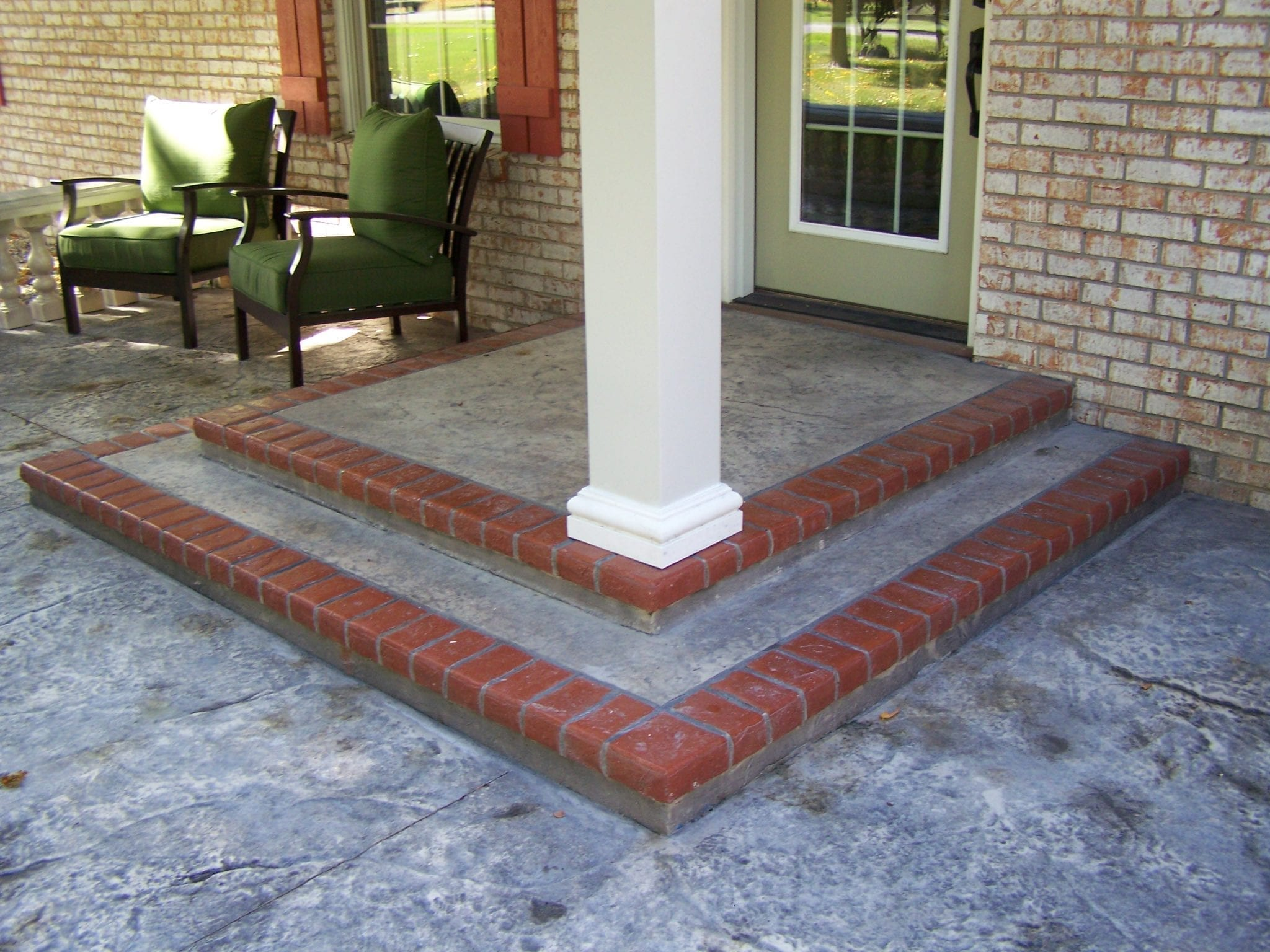 Concrete Front Porch Makeover Baluster Amp Floor Designs