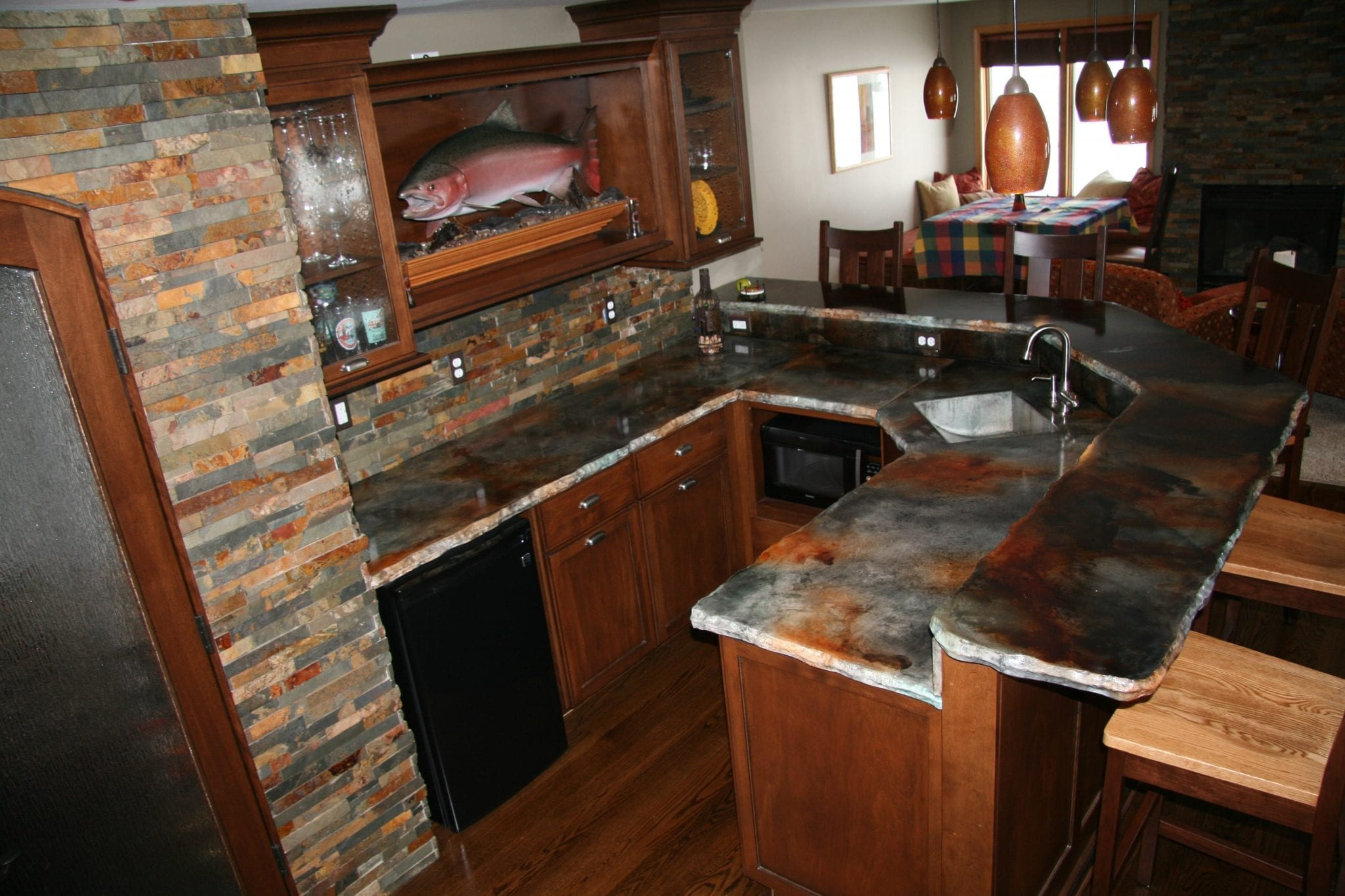Kitchen Countertop Pattern : How to stain a concrete counter top using eco