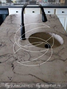 faux stone travertine countertop island