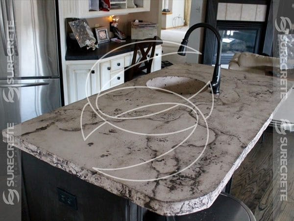 Veined Stone Look Concrete Countertop