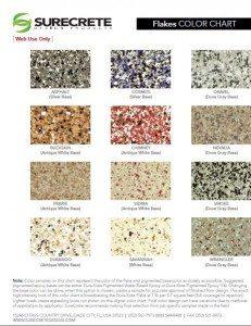 Color Flake Chart