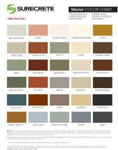 surecrete master color charts