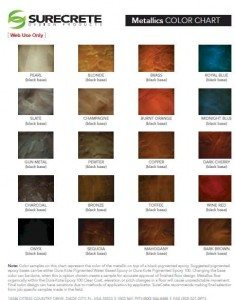 metallics color chart