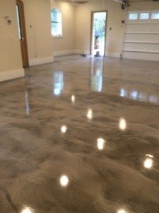 gray white epoxy metallic floor