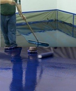 apply Coating Metallic Floor