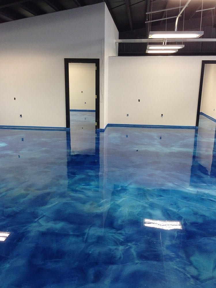 Making a 3d epoxy metallic floor step by step floor epoxy for Liquid lino floor paint