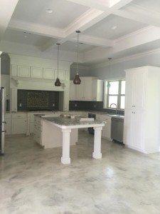 white epoxy metallic floor