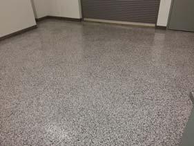 Black White And Gray Epoxy Flake Garage Floor