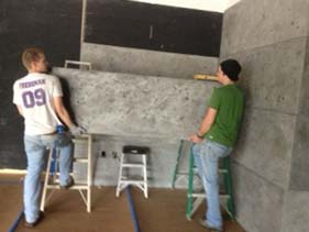 Thin Gray Concrete Wall Panels for Retail Area XS Precast