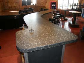 White Terrazzo Bar Counter Top