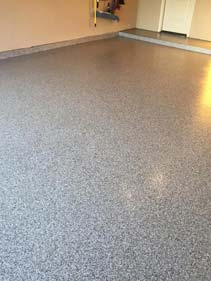 Speckled Garage Flake Floor