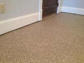 Beige and White Residential Flake Floor
