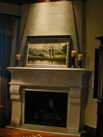 English Concrete Fire Place Surround