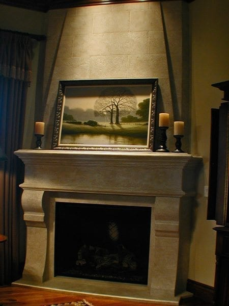 Old English Concrete Fire Place Surround