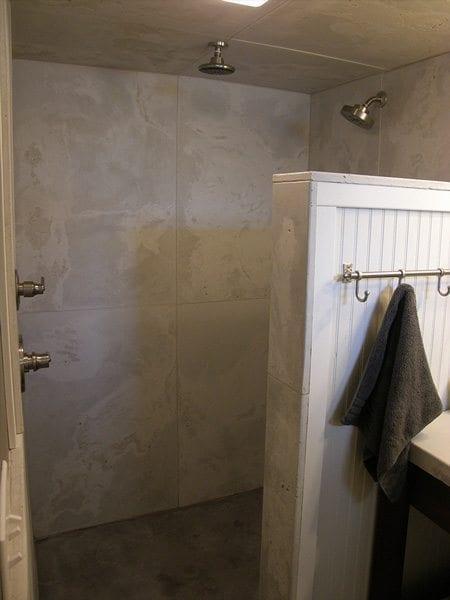 Custom Terrazzo White Concrete Shower Panels