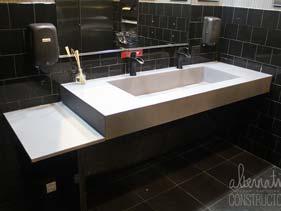 White Concrete Bathroom Vanity