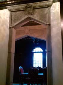 Dark Grey Concrete Door Frame Accent Feature