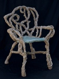 Custom Crafted Concrete Tree Branch Chair