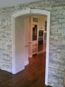 Custom White Concrete Door Surrounds