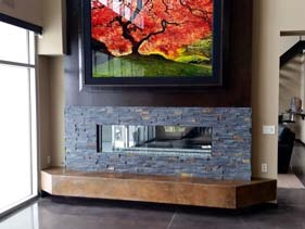 Concrete Brown Wall Accent