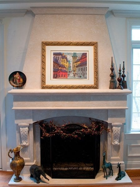 Range Style Concrete Fire Place Surround