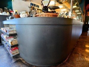 Solid Gray Concrete Café Restaurant Reception Counter